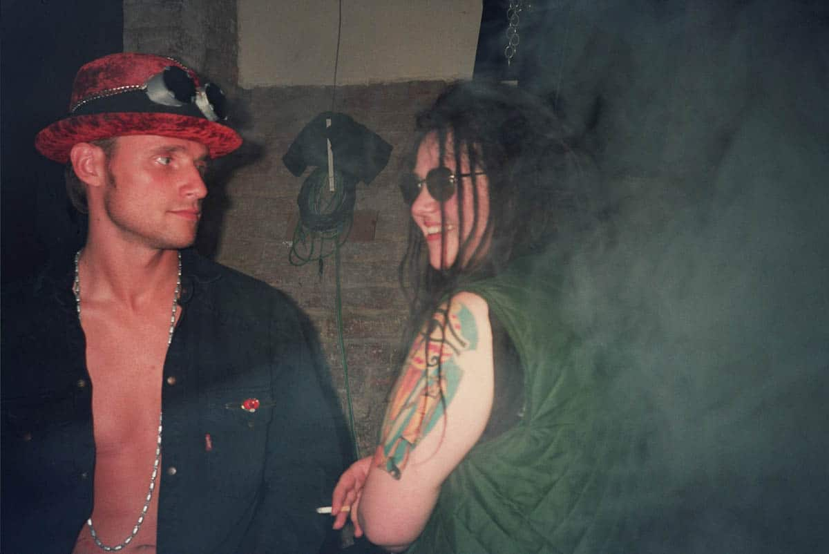 Tina 303 mit Andreas Puffer, ca. 1993 (c) Arber Rushiti