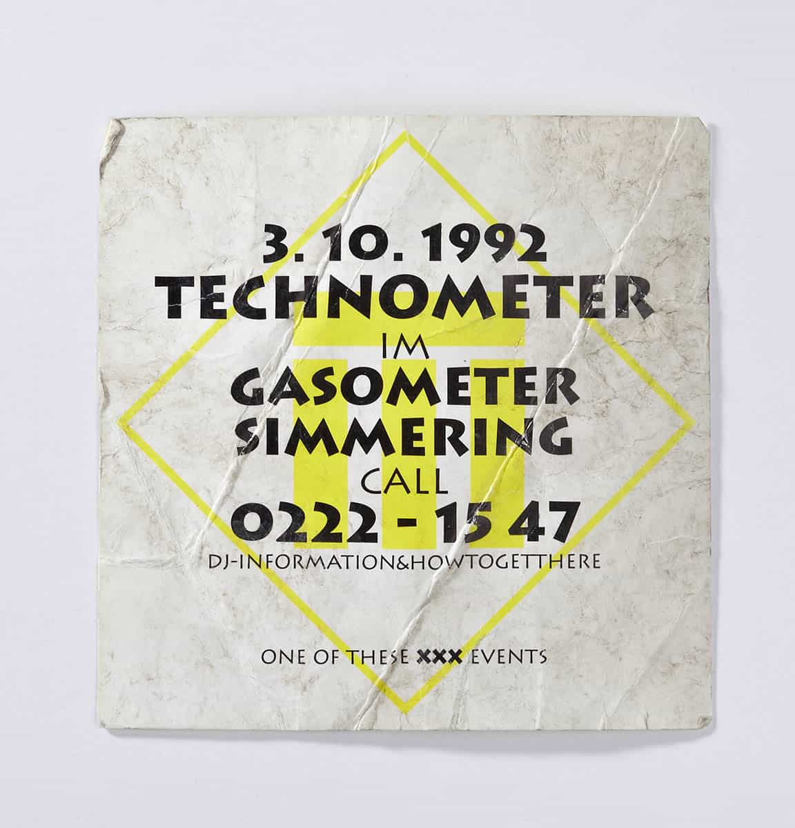 "Als der ""Gasometer""-Rave noch ""Technometer"" hieß, 1992 (c) Stephan Doleschal / doleschal.at"