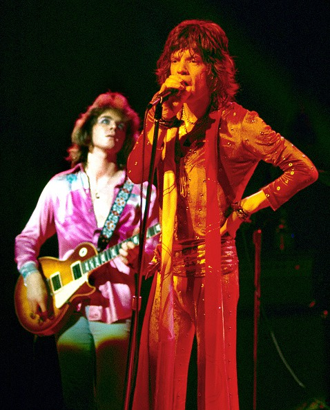 Mick Taylor & Mick Jagger (Rolling Stones) performing at the Boston Garden, July 18, 1972