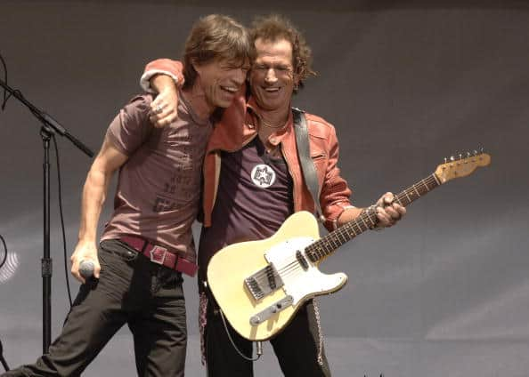 Mick Jagger and Keith Richards of The Rolling Stones (Photo by Carvalho/FilmMagic)